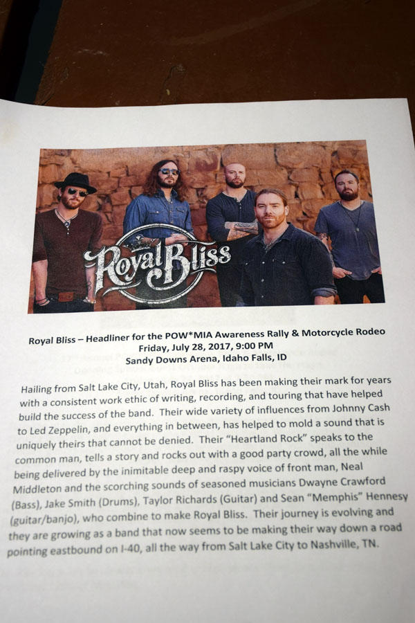 Friday Night Headliner Band Royal Bliss