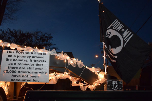 Lightned Christmas Parade w/ POWMIA Traveling Flag