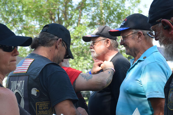 Vietnam Veterans Pinning Ceremony for 50th Anniversary of Vietnam War at 2018 Rally